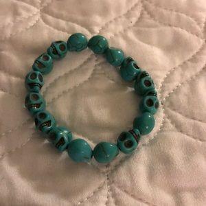 Jewelry - Turquoise skull bracelet